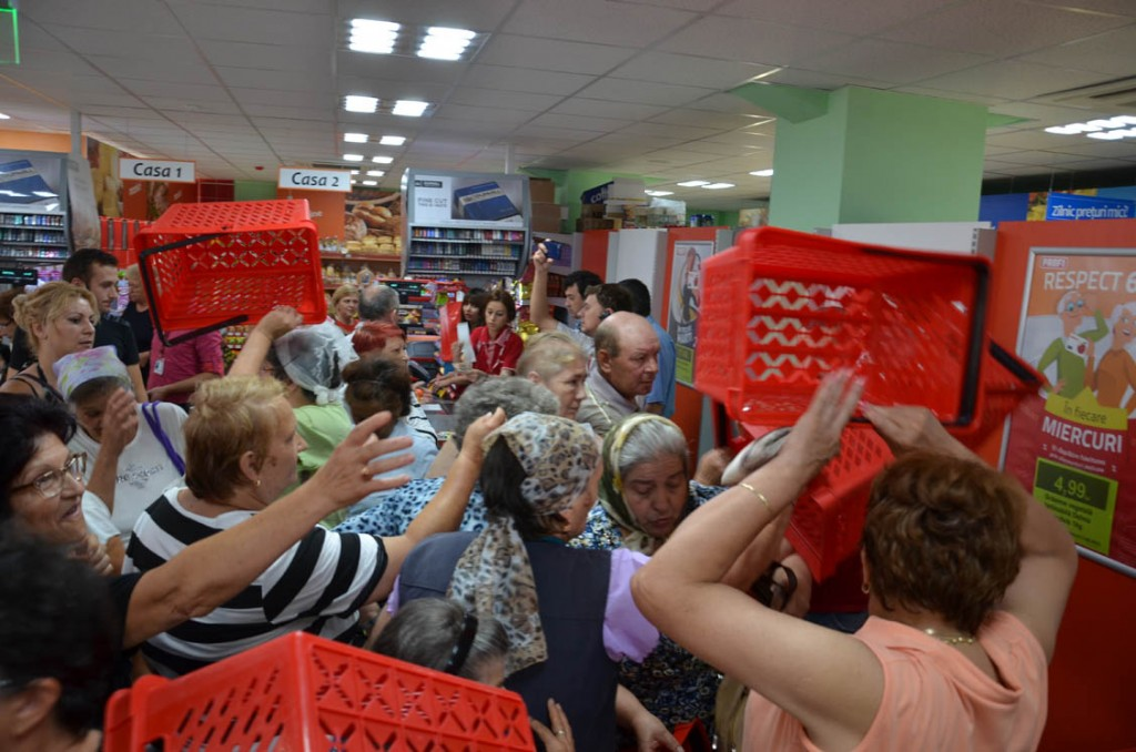 Romanu in supermarket